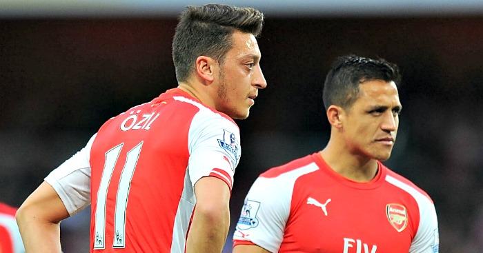 Arsenal attackers Mesut Ozil and Alexis Sanchez