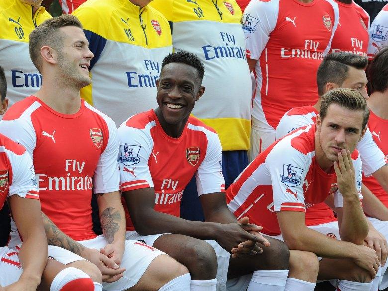 Arsenal's Jack Wilshere, Danny Welbeck and Aaron Ramsey